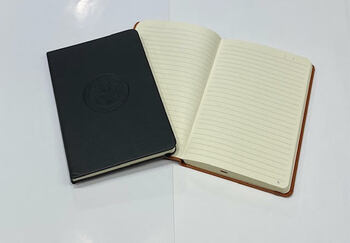Classic Italian Thermo PU Leather Journal/DOS logo embossed