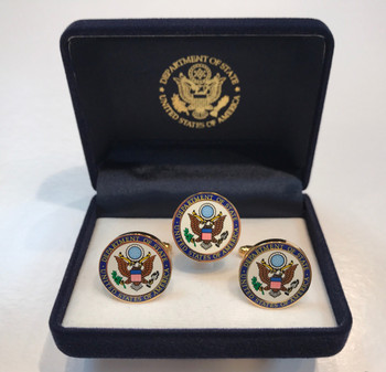 Cufflinks and Lapel Pin / DOS - Multi Color