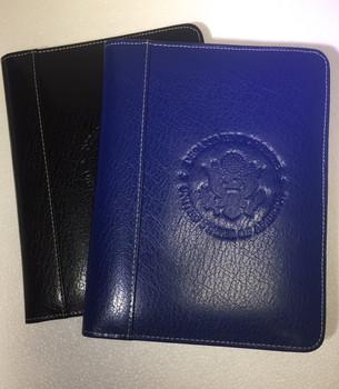 Genuine Leather Jr. Pad Holder/Embossed DOS Logo