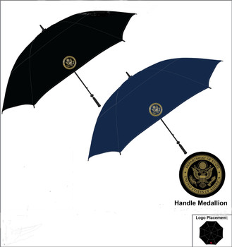"62"" Canopy Umbrella with customized DOS logo Medallion"