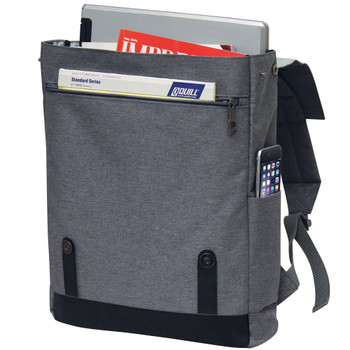 Stylish Computer Backpack - DOS Logo Embroidered