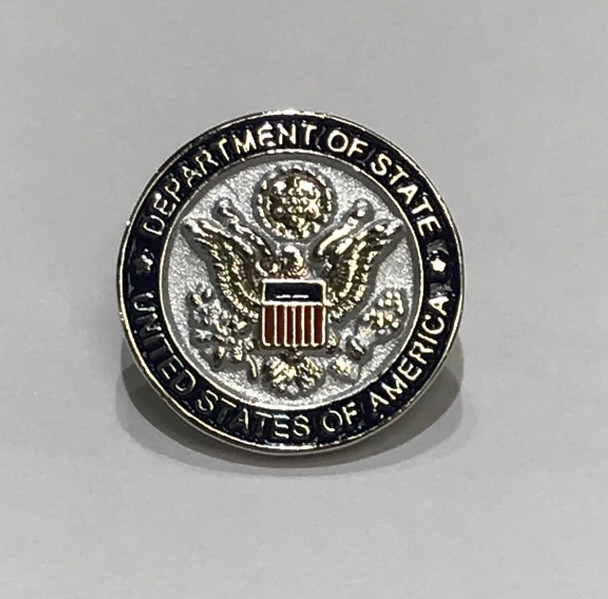 2D DOS - Silver Plated/Lapel Pin with colors shield