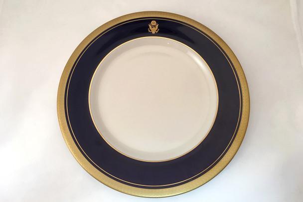 "Cobalt Blue Rim Salad Plate 8 1/4"""