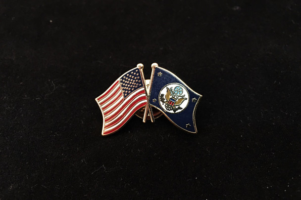 DOS/USA Flags Lapel Pin