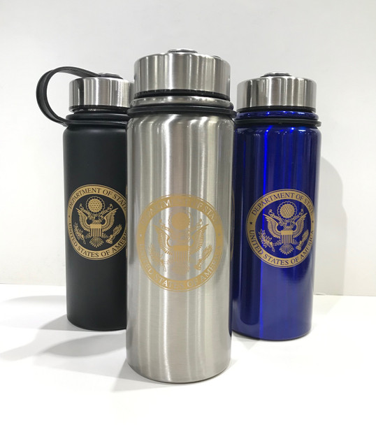 Summit 20 oz Double Wall Vacuum Insulated 18/8 Stainless Steel Bottle/DOS Logo