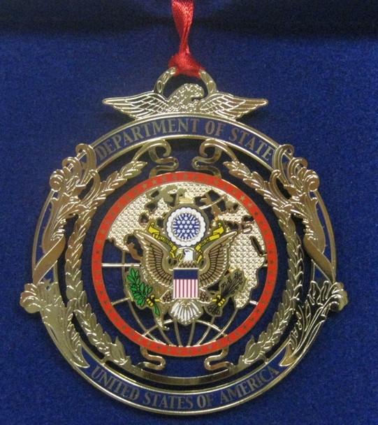 DOS Ornament/ 3-D Globe - USA Made