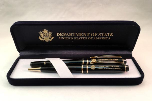 Set of 2 DOS Pens w/Box - Ballpoint pen, Rollerball pen