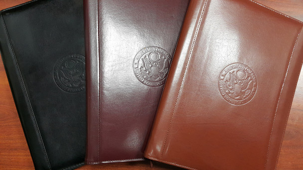 Zippered Leather Portfolio - DOS Debossed Logo