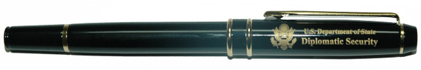Rollerball Pen w/ Pouch - Diplomatic Security Logo