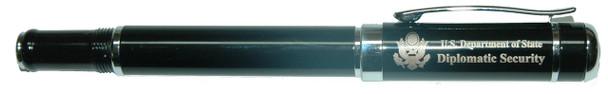 Hi-End Rollerball Pen w/ Custom Velvet Presentation Box - Diplomatic Security Logo