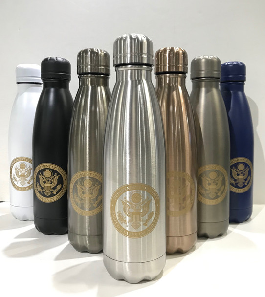 17oz. Double Wall Stainless Steel Vacuum Insulated Bottle/DOS Logo