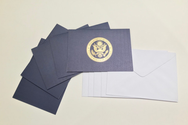 Navy Note Cards (pack of 5 with 5 envelope)