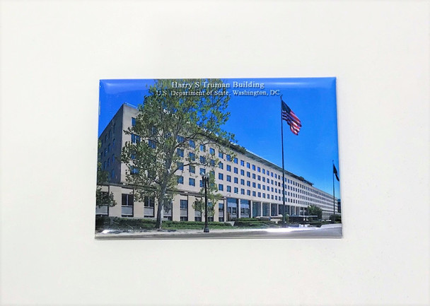 Rectangle Harry S Truman Building Magnet