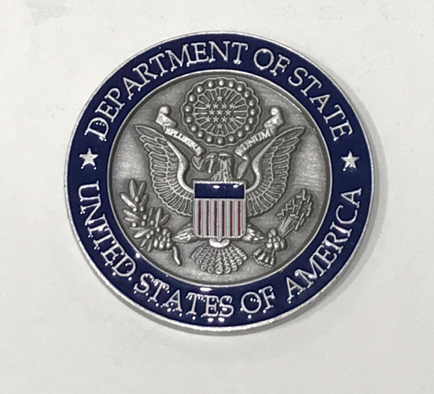 New!  DOS/Harry S Truman Challenge Coin/Navy Presentation Box