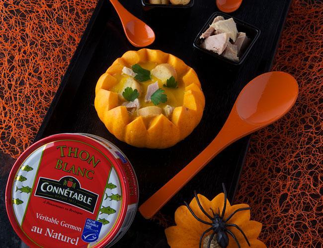 Halloween cream of soup with tuna
