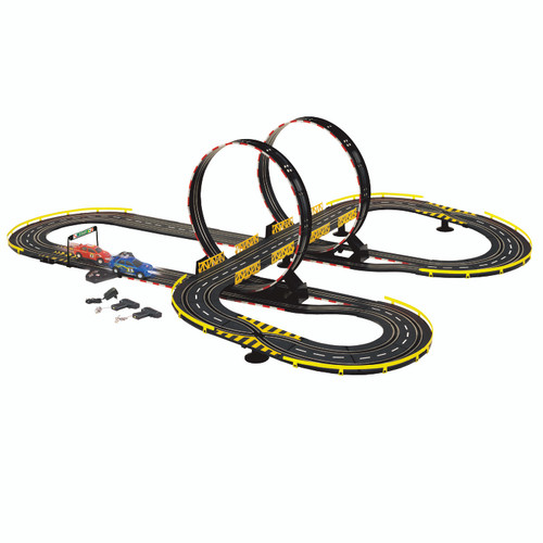 Golden Bright-Mirror Looping Electric Race Track Set