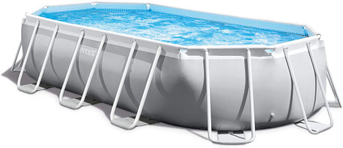 Intex 16ft 6in X 9ft X 48in Prism Frame Oval Pool Set