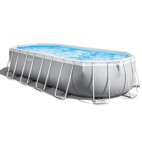 Intex-20ft X 10ft X 48in Prism Frame Oval Pool Set
