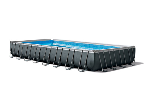 Intex 32ft X 16ft X 52in Ultra XTR Frame Rectangular Pool Set with Sand Filter Pump