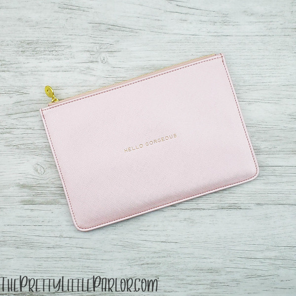 Stamped Faux Leather Pouch