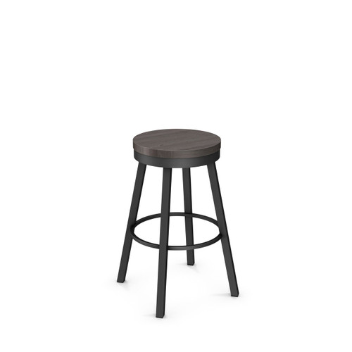 Groovy Amisco Connor Swivel Stool Wood Pabps2019 Chair Design Images Pabps2019Com
