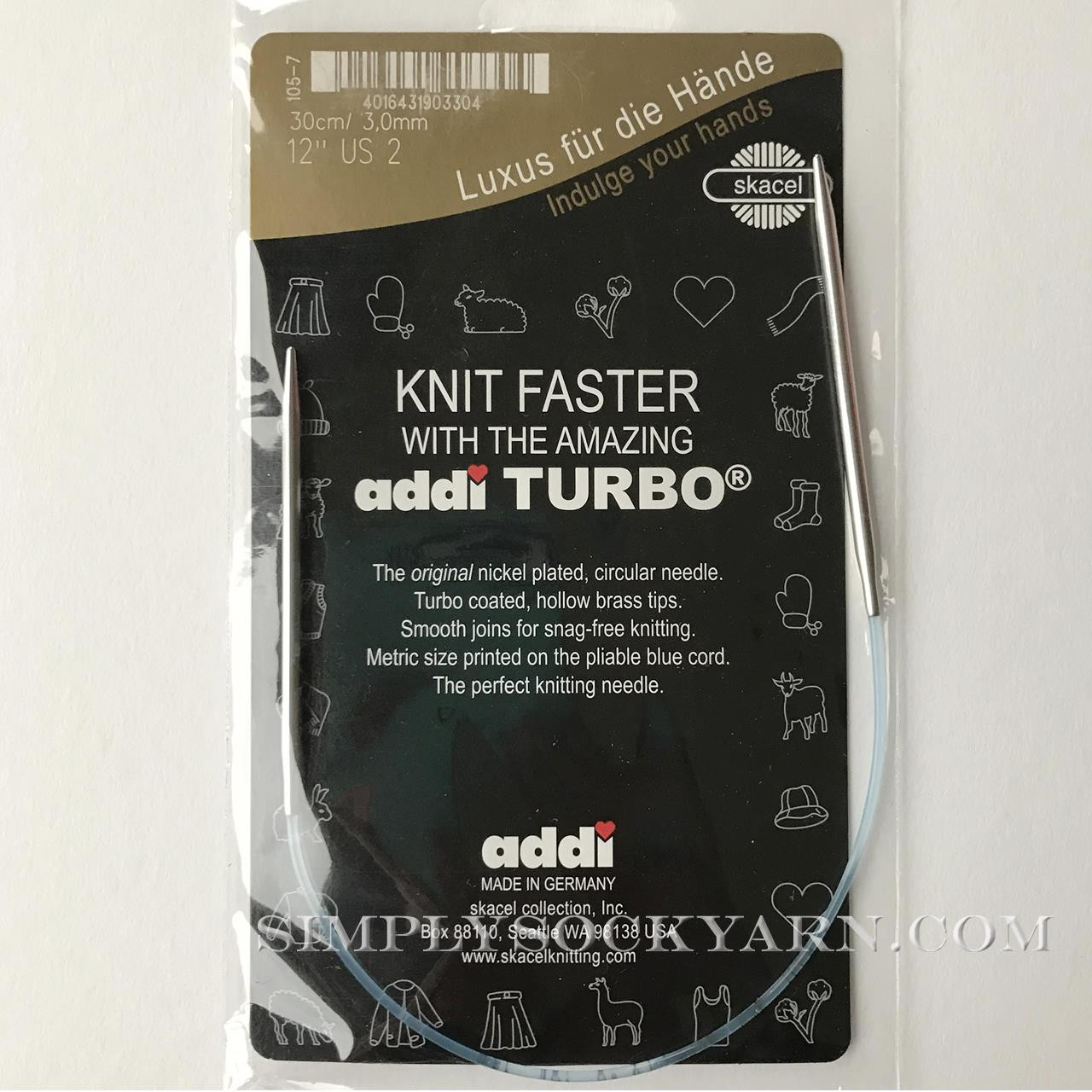 "Addi Turbo 12"" Circ US 0.5 -"
