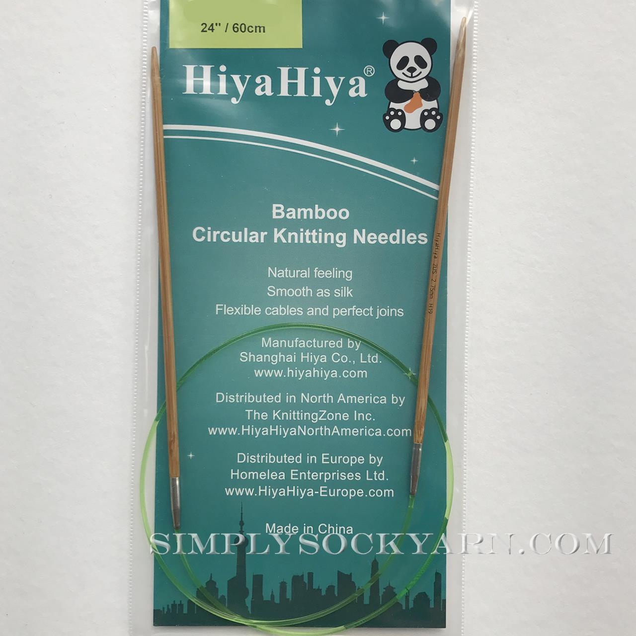 "Hiya 24"" Circ Bamboo US 6 -"
