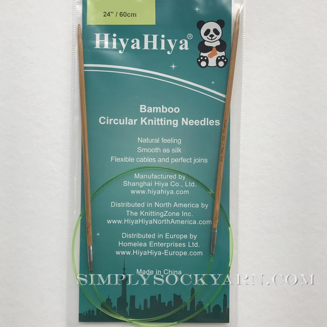 "Hiya 24"" Circ Bamboo US 8 -"