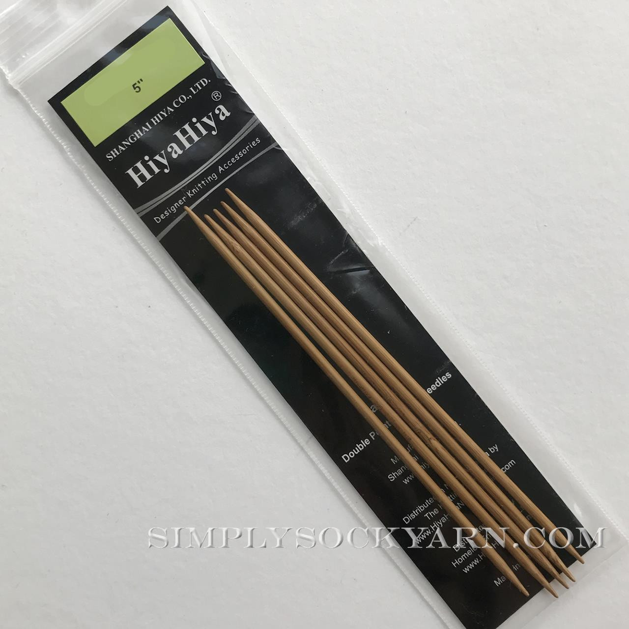 "Hiya 5"" DP Bamboo US 9 -"