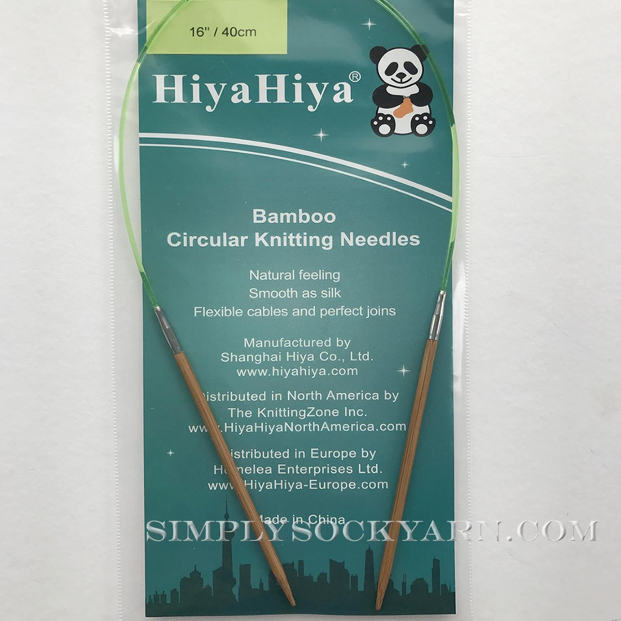 "Hiya 16"" Circ Bamboo US 0 -"