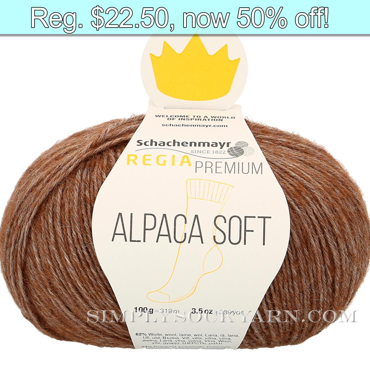 Regia Alpaca Soft 25 Toffee -