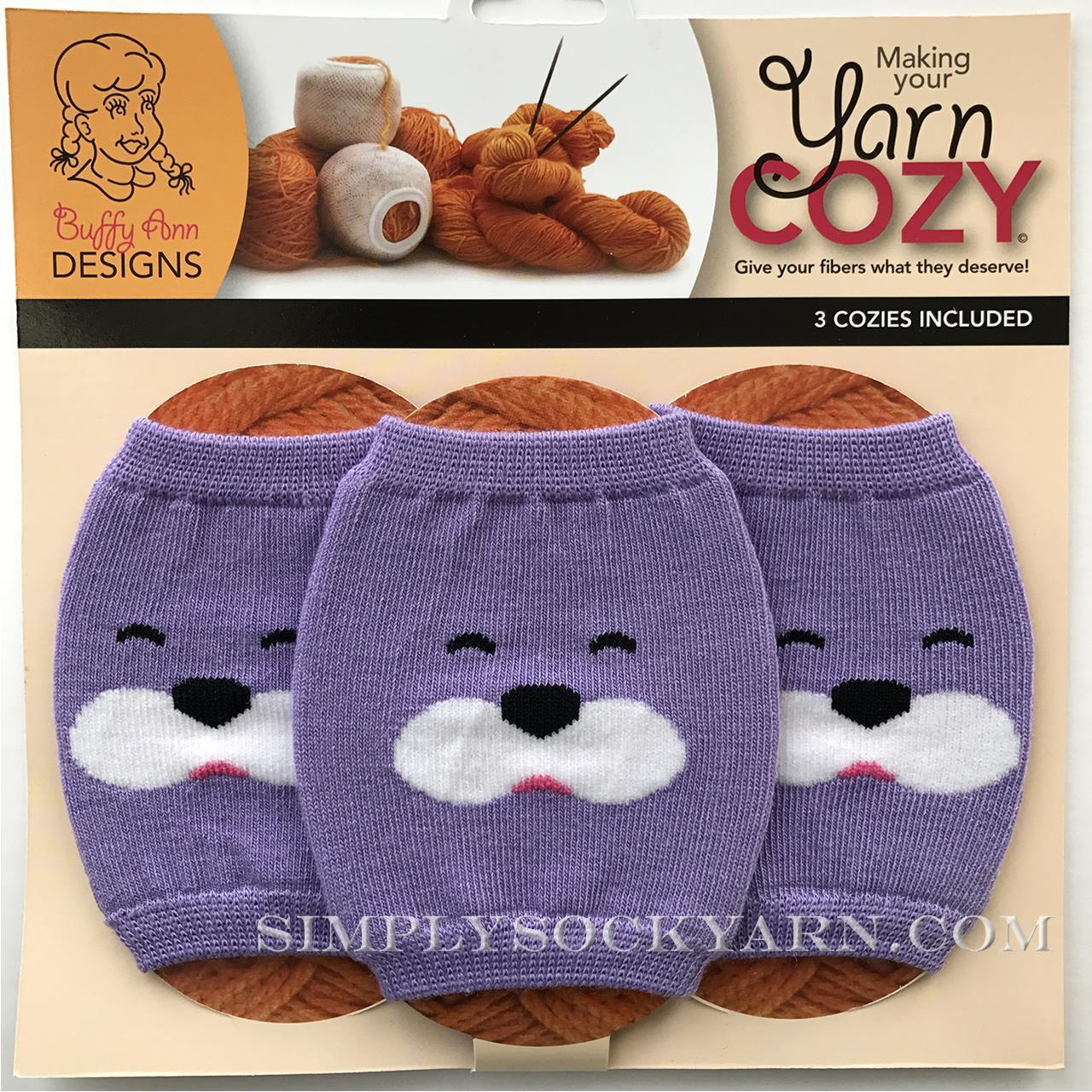 Yarn Cozy Purple Bear -
