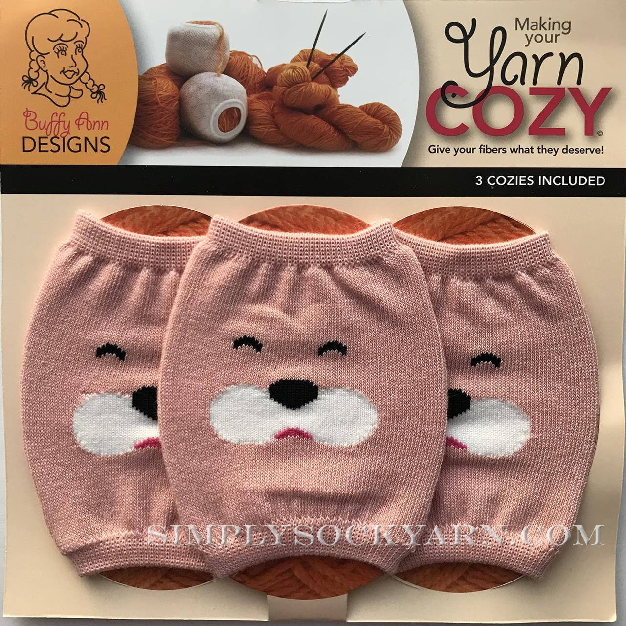Yarn Cozy Pink Bear -