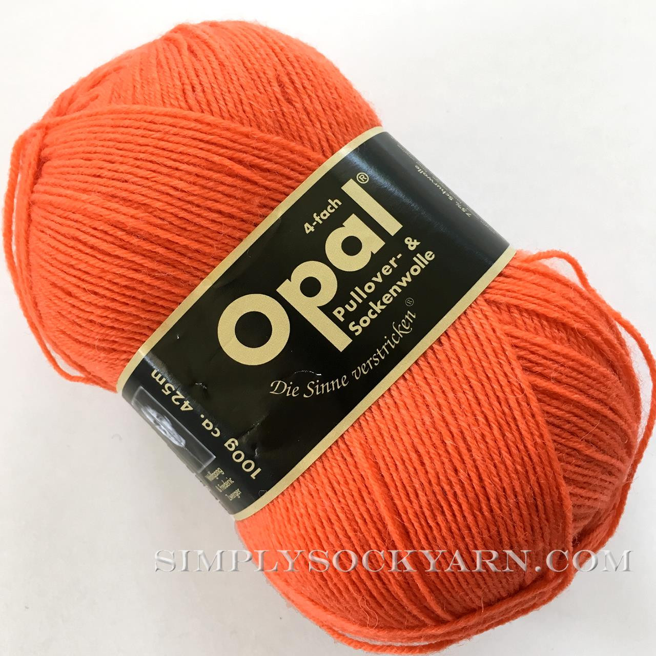 Opal Uni Solid 5181 Orange -