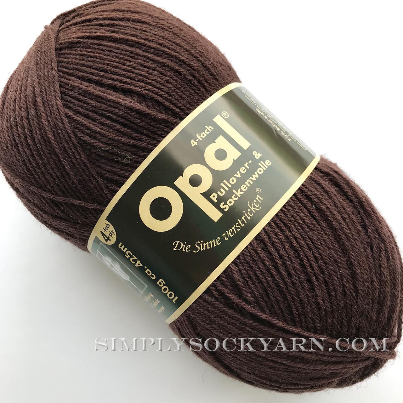 Opal Uni Solid 5192 Dark Brown -