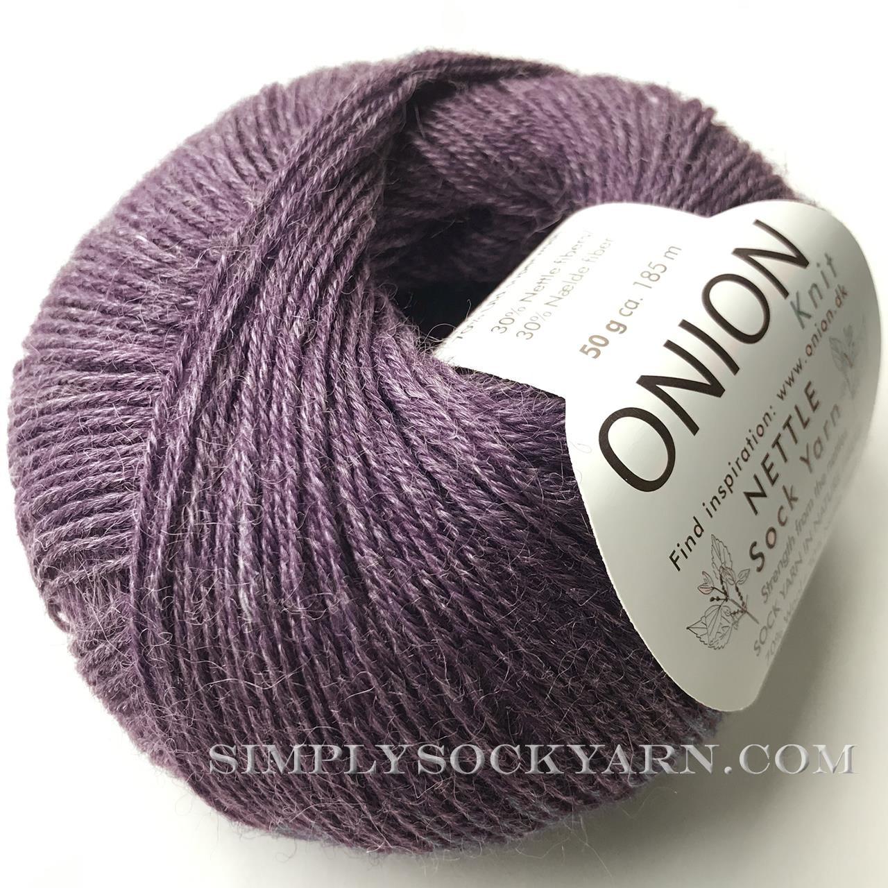 OY Nettle Sock 1009 Dark Purple -