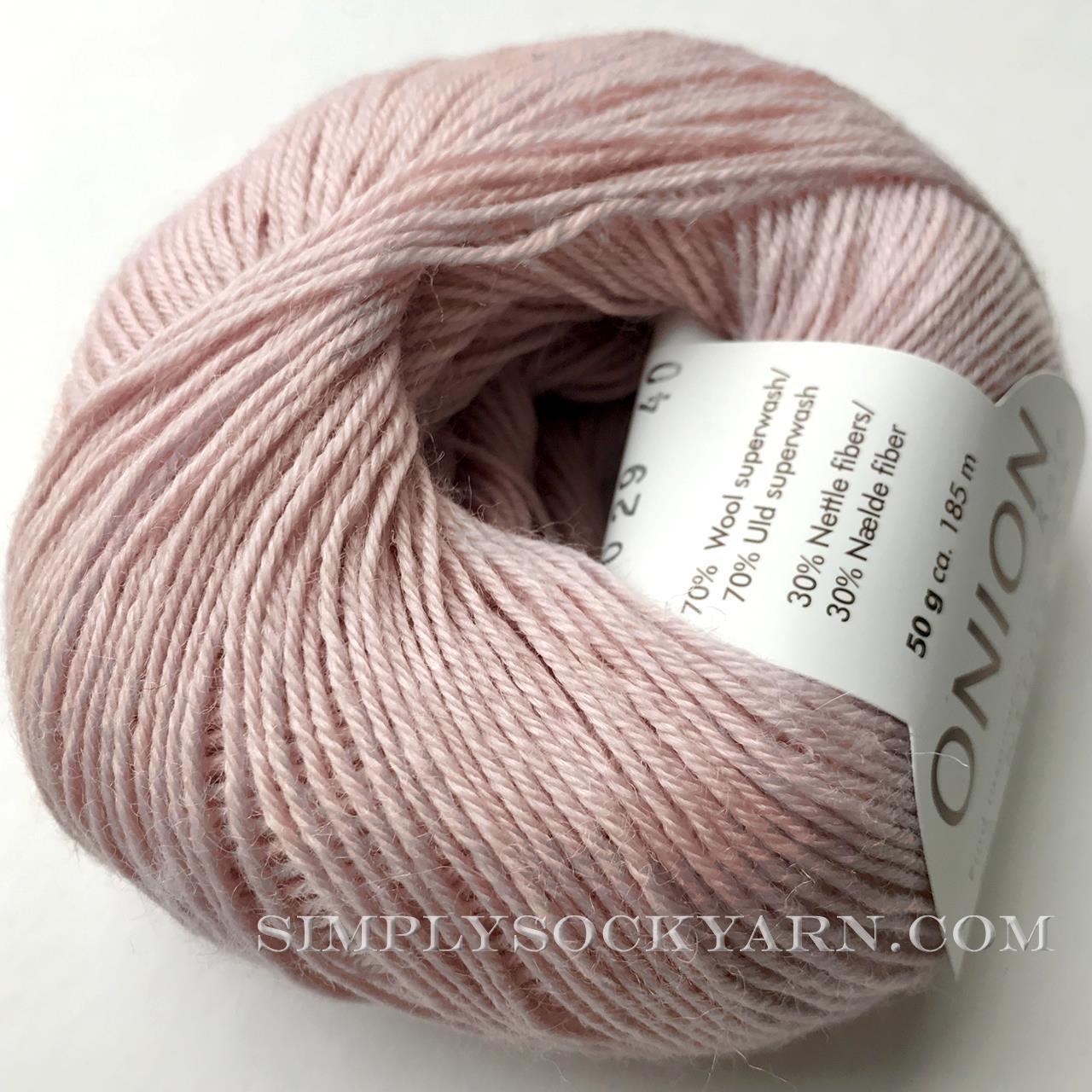 OY Nettle Sock 1029 Light Pink -