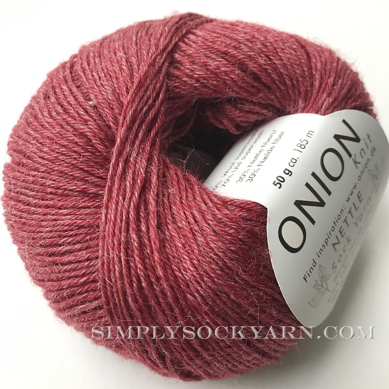 OY Nettle Sock 1008 Dark Red -