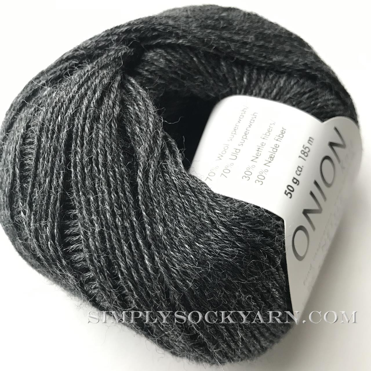 OY Nettle Sock 1002 Charcoal -