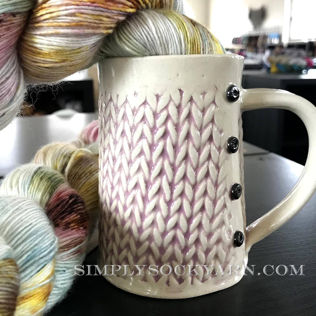 CwC Knit Big Mug Purple Wash -