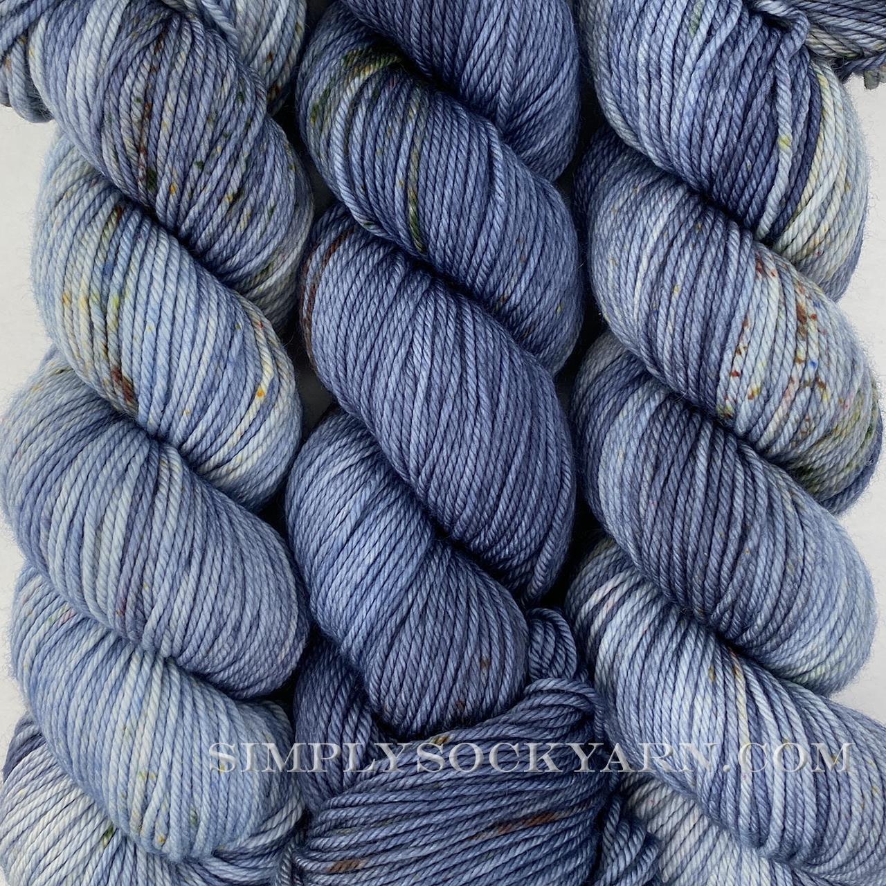 LITLG DK Twist Silver Blue -