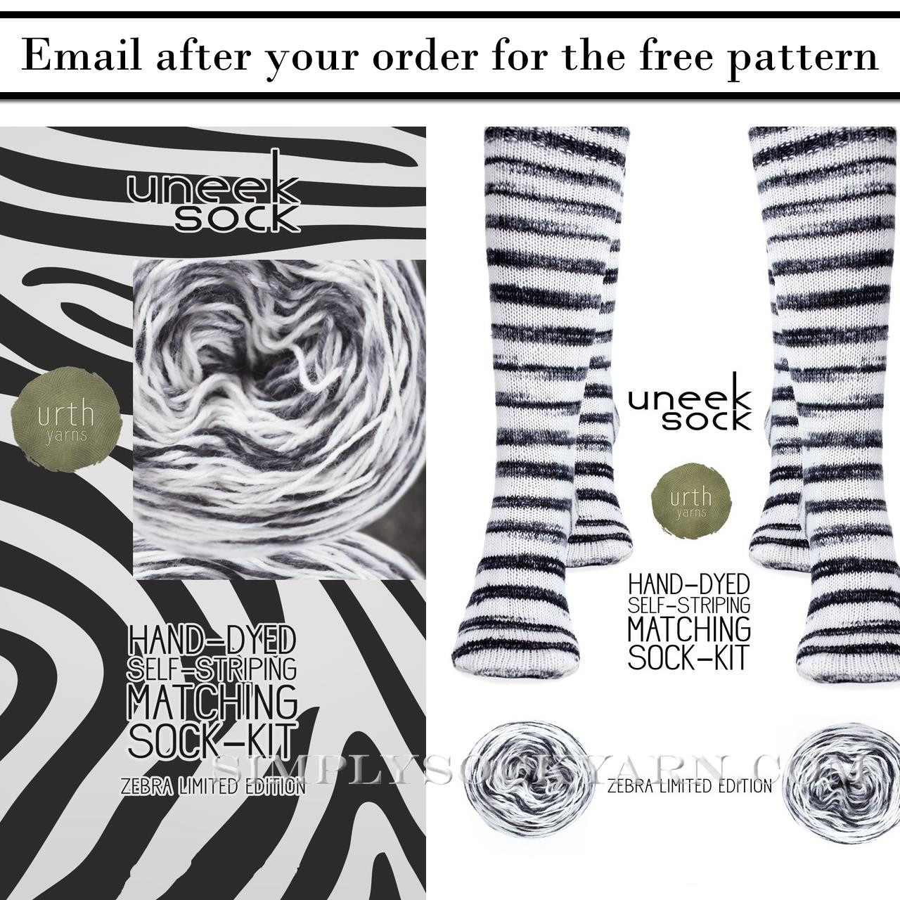 Urth Uneek Sock Kit Zebra -
