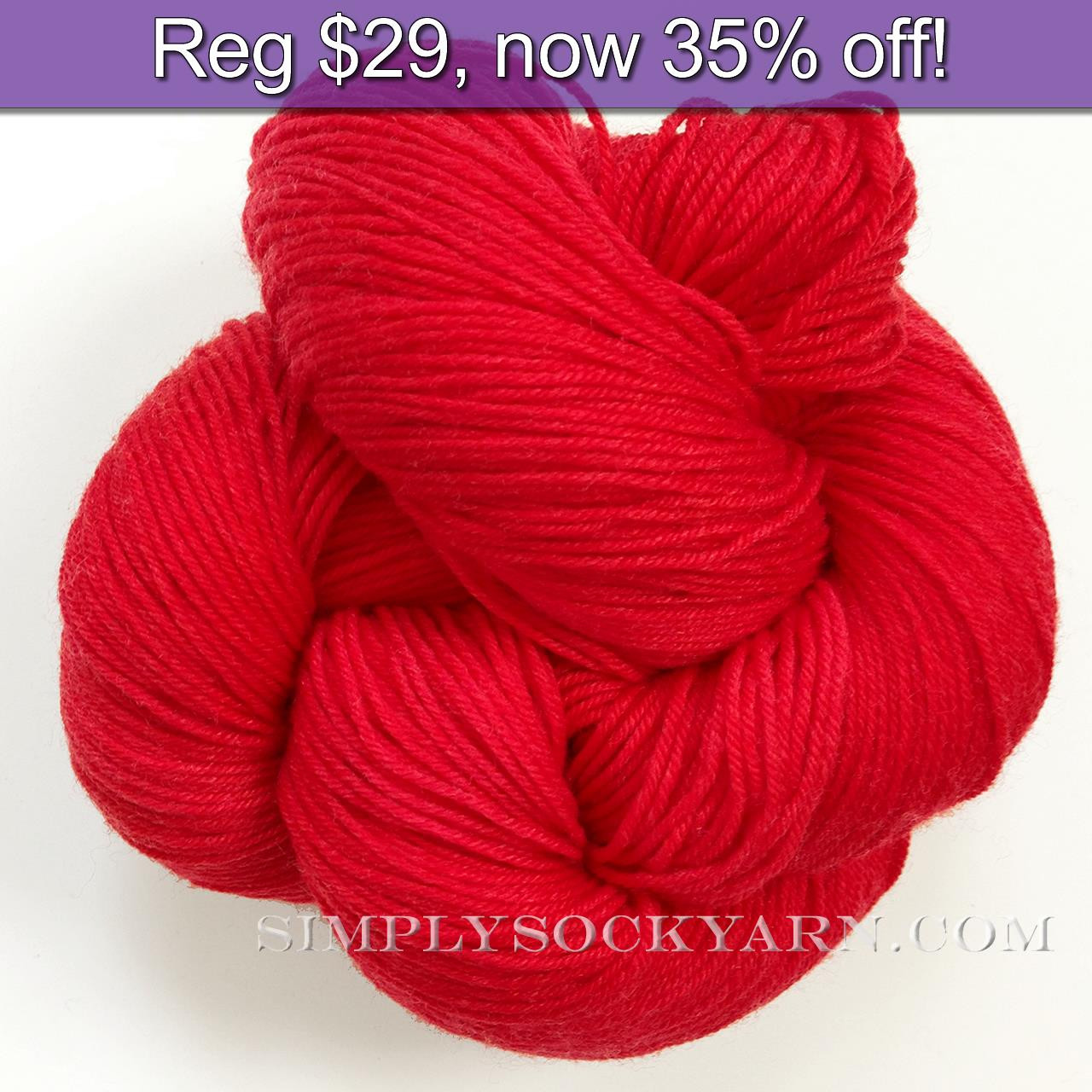 LL Sock Solid Bold Red -