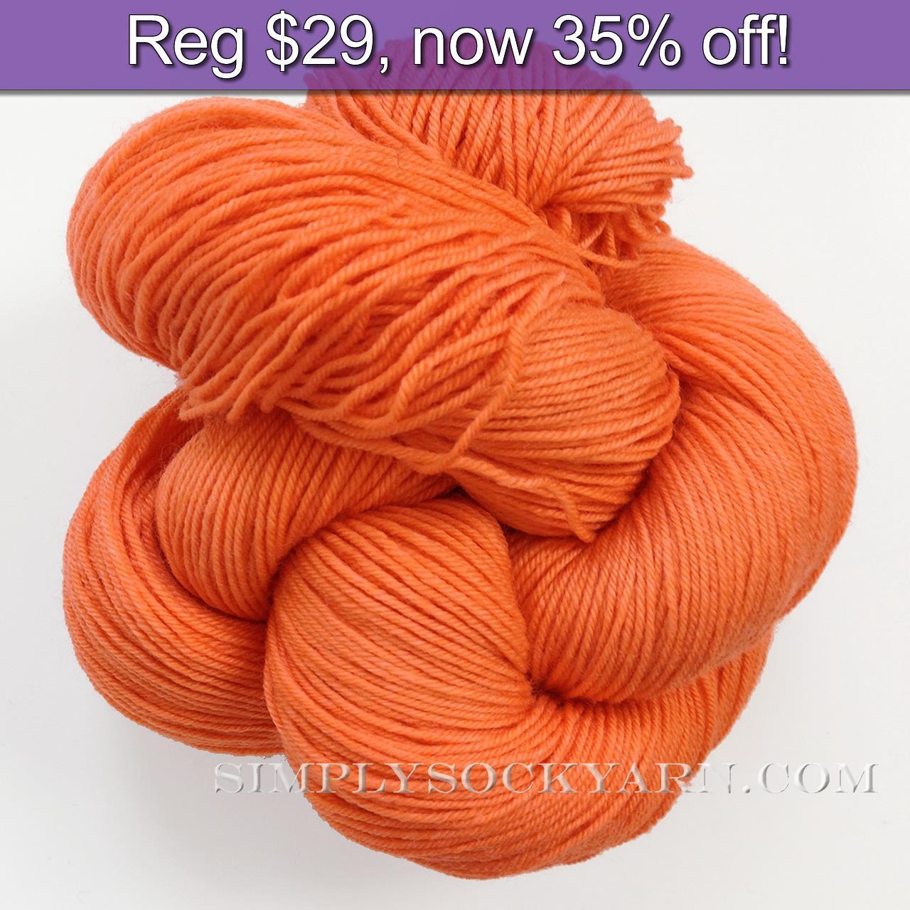 LL Sock Solid Carrot -