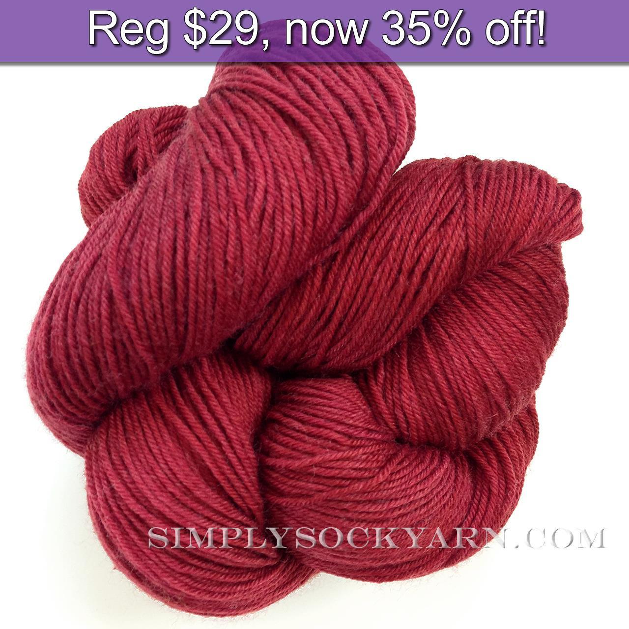 LL Sock Solid Cranberry -