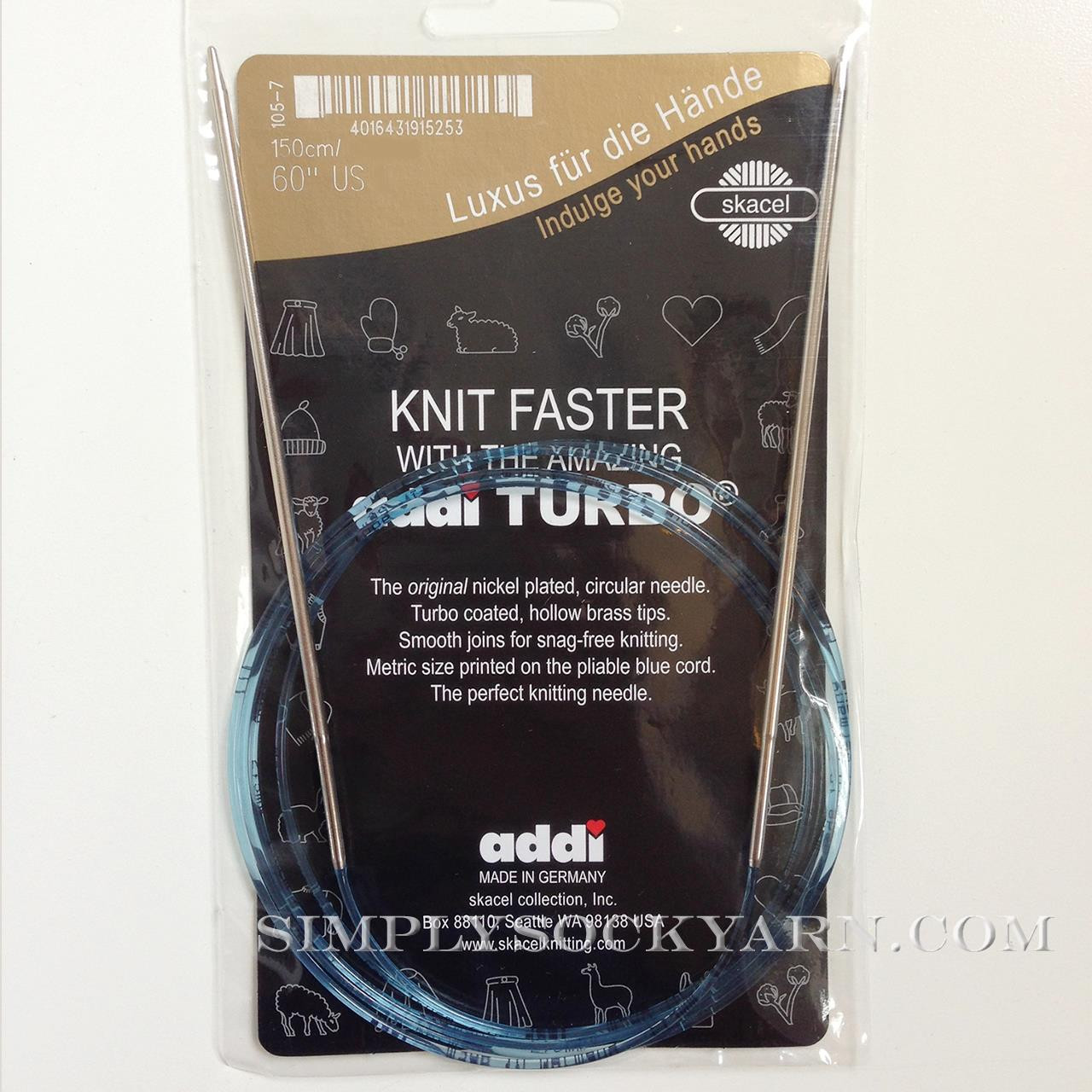 "Addi Turbo 60"" Circ US 4"