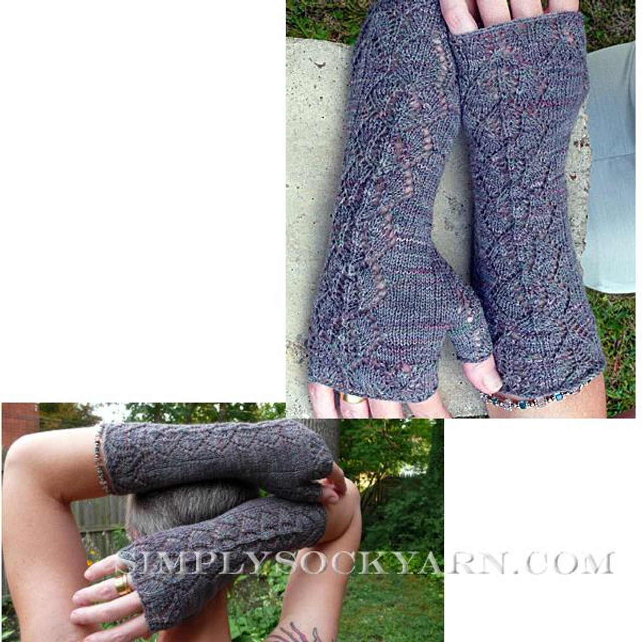 Knitspot Orchid Lace Mitts