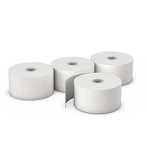 "1 3/4"" x 165ft (1-Ply Bond Paper Roll- White) - 100 Rolls/box"