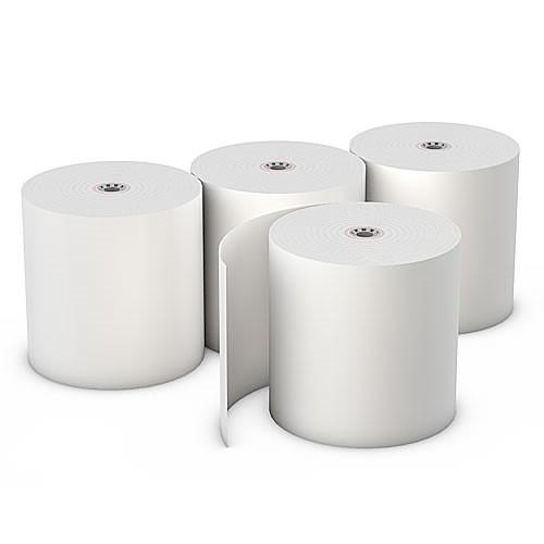 "3"" x 155ft (1-Ply Bond Paper Roll- White) - 50 Rolls/box"