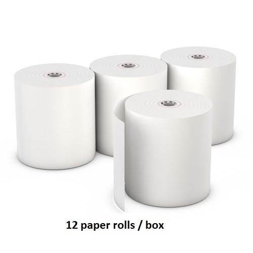 "3"" x 155ft (1-Ply Bond Paper Roll- White) - 12 Rolls/box"